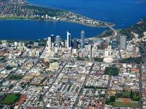 Vue aérienne 4 de ville de Perth Photographie stock libre de droits