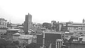 Vue aérienne archivistique de Roman Forum banque de vidéos
