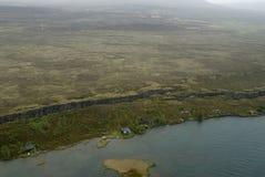 Vue aérienne au défaut tectonical Photographie stock