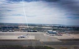 Vue aérienne au-dessus d'aéroport de Palma Photographie stock
