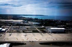 Vue aérienne au-dessus d'aéroport de Palma Photo stock