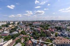 Vue aérienne au-dessus de Bucarest Images stock