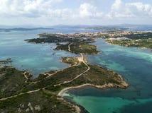 Vue aérienne au-dessus de La Maddalena photo libre de droits