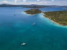 Vue aérienne au-dessus de La Maddalena photographie stock