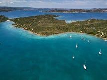 Vue aérienne au-dessus de La Maddalena photos stock