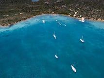 Vue aérienne au-dessus de La Maddalena photos libres de droits