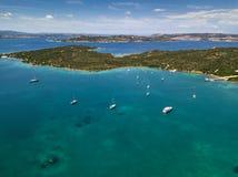 Vue aérienne au-dessus de La Maddalena photographie stock libre de droits