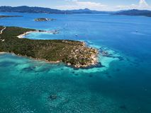 Vue aérienne au-dessus de La Maddalena images stock