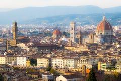 Vue aérienne au-dessus de la ville historique de Florence, Toscane, Italie Photos libres de droits