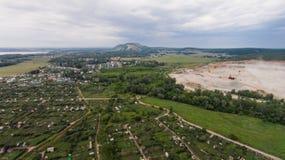 Vue aérienne au-dessus de montagne de Shahtau Photo stock
