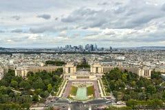 Vue aérienne au-dessus de Paris Images libres de droits