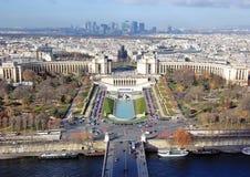 Vue aérienne au-dessus de Paris Photo libre de droits