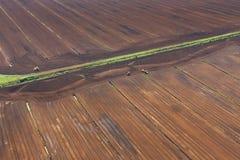 Vue aérienne au-dessus de rendement de gazon Photos libres de droits