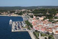 Vue aérienne au-dessus de Rovinj, Croatie photo stock