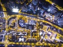 Vue aérienne au-dessus de Shatin en Hong Kong Photos libres de droits