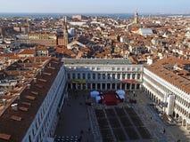 Vue aérienne au-dessus de Venise en Italie images libres de droits