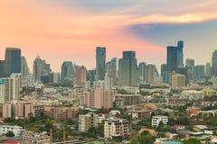 Vue aérienne, bâtiment de bureau municipal de Bangkok Photo libre de droits