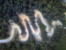 Vue aérienne, belle route sur la montagne en Thaïlande Photo libre de droits