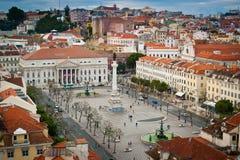 Vue aérienne carrée de Rossio Photo libre de droits
