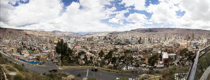 Vue aérienne chez La Paz, Bolivie images stock