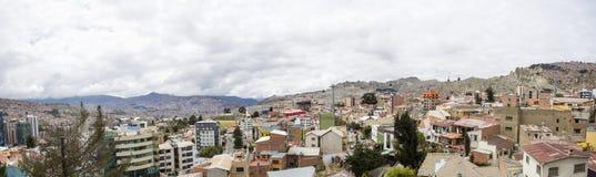 Vue aérienne chez La Paz, Bolivie image libre de droits
