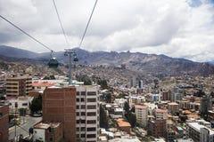 Vue aérienne chez La Paz, Bolivie photo libre de droits
