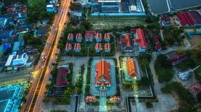 Vue aérienne chez Prajuabkirikhan Images libres de droits