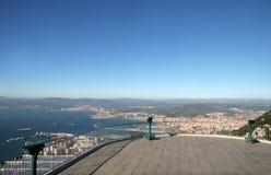 Vue aérienne - compartiment du Gibraltar photographie stock libre de droits