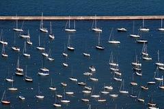 Vue aérienne d'â de bateaux à voiles Photographie stock libre de droits