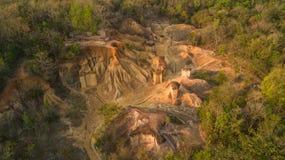 Vue aérienne d'érosion de grès photo libre de droits