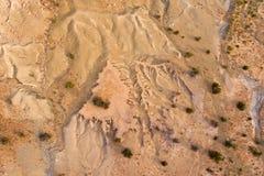 Vue aérienne d'érosion du sol images stock