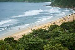 Vue aérienne d'été de plage du Brésil Image stock