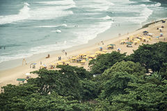 Vue aérienne d'été de plage du Brésil Images libres de droits