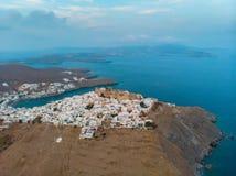 Vue aérienne d'île d'Astypalaia photo libre de droits