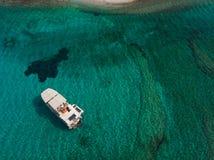 Vue aérienne d'île de Kounoupa image libre de droits