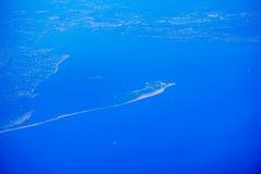 Vue aérienne d'île de New Jersey Photos libres de droits