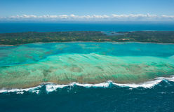 Vue aérienne d'île de Sainte Marie, Madagascar Photographie stock libre de droits