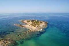 Vue aérienne d'île en Sicile Image libre de droits