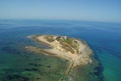 Vue aérienne d'île en Sicile Images libres de droits