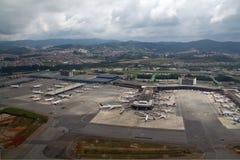 Vue aérienne d'aéroport de GRU Images libres de droits