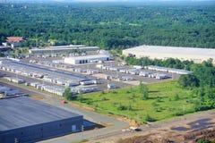 Vue aérienne d'aéroport de Hartford Photos libres de droits
