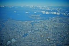 Vue aérienne d'aéroport de Rio de Janeiro Image stock