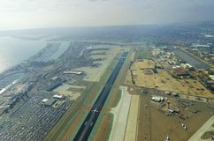 Vue aérienne d'aéroport de San Diego Image stock