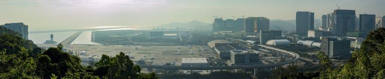 Vue aérienne d'aéroport international de Macao Photographie stock libre de droits