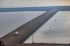 Vue aérienne d'aéroport international de Macao Image stock