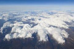 Vue aérienne d'Alpes Photos libres de droits