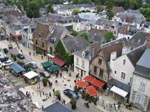 Vue aérienne d'Amboise photos libres de droits