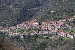Vue aérienne d'Apricale image stock