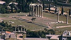 Vue aérienne d'Athènes banque de vidéos