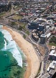Vue aérienne d'Australie de plage de Newcastle Images libres de droits